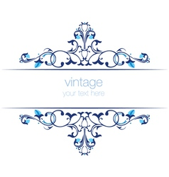Blue ottoman serial patterns twenty two vector