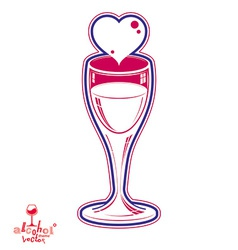 Wineglass 3d vector