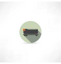 Tank car icon vector