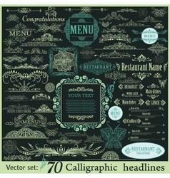 Calligraphic vintage design elements vector