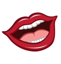 Mouth red lips vector