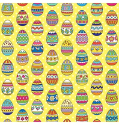 Easter pattern yellow vector