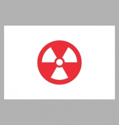 Radiation sign on japan flag vector