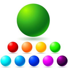 Set of brignt colored balls vector