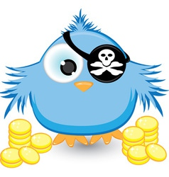 Cartoon pirate sparrow vector