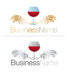 Gold and silver glasses of wine vector