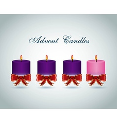 Advent candles design vector