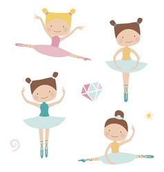 Lovely ballerinas vector