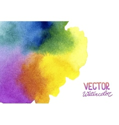 Absctract background with watercolor splash vector