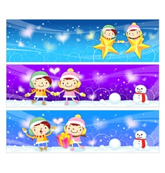 Banner design utilizing dating couples mascot vector