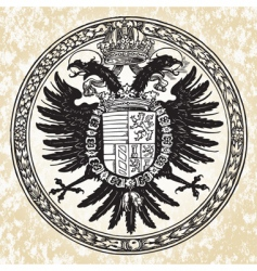 Eagle ornate seal vector