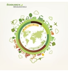 World global ecology concept environmental icons vector