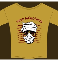 Very infectious t-shirt design template vector