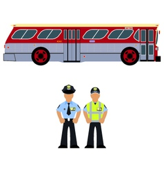 Bus and the bus driver vector