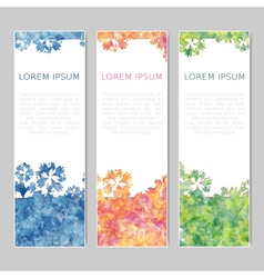 Set of three abstract colorful banners vector