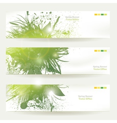Plant decorated banners vector