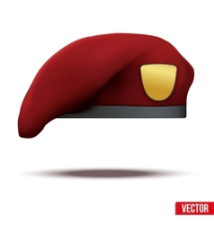 Maroon military red beret army special forces vector