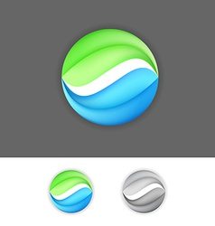 Corporate business green-blue eco sign element vector