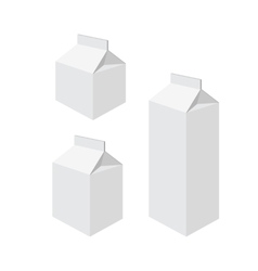Milk packets vector
