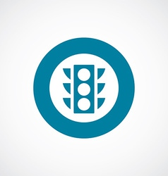 Traffic light icon bold blue circle border vector