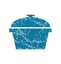 Grunge pot icon vector