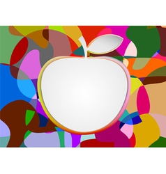 Colorful with blank apple shape vector