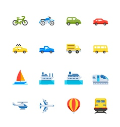 Transportation and vehicles icons vector