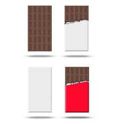 Chocolate set vector