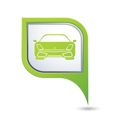 Car green pointer vector