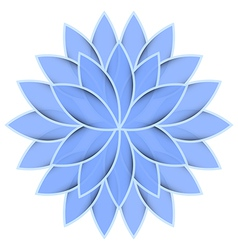 Blue flower lotus on white background isolated vector
