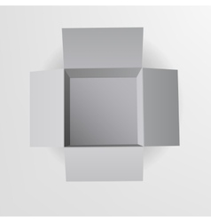 Open box top view vector