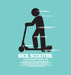 Kick scooter black symbol vector