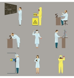 Set of scientific characters vector