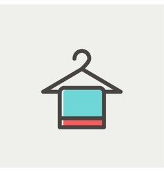 Towel on a hanger thin line icon vector