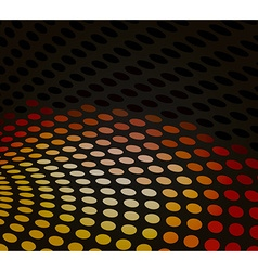 Black dotted background vector