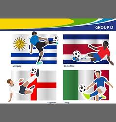 Soccer football players brazil 2014 group d vector