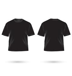 T shirt black vector