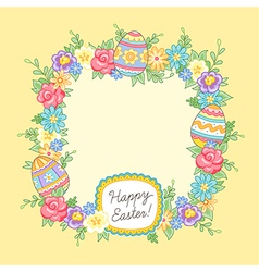 Easter wreath yellow vector
