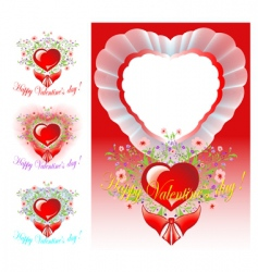 Set of congratulations valentines day vector