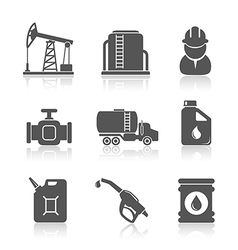 Oil industry petroleum processing icons set vector