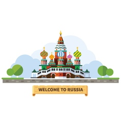 Welcome to russia vector