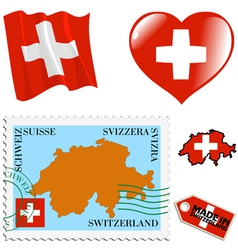 National colours of switzerland vector
