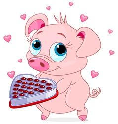 Love piglet vector
