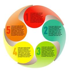 Creative list disc element colorful vector