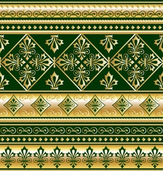 Gold royal ornament vector