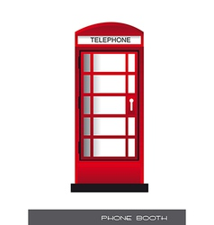 Telephone booth vector