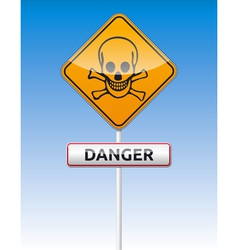Danger skull traffic vector