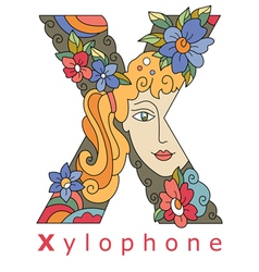 Letter x xylophone vector