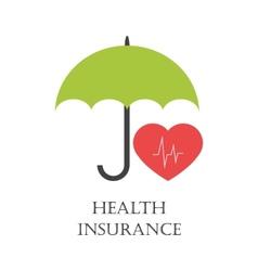 Health insurance emblem vector