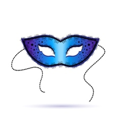 Blue ornate carnival mask vector